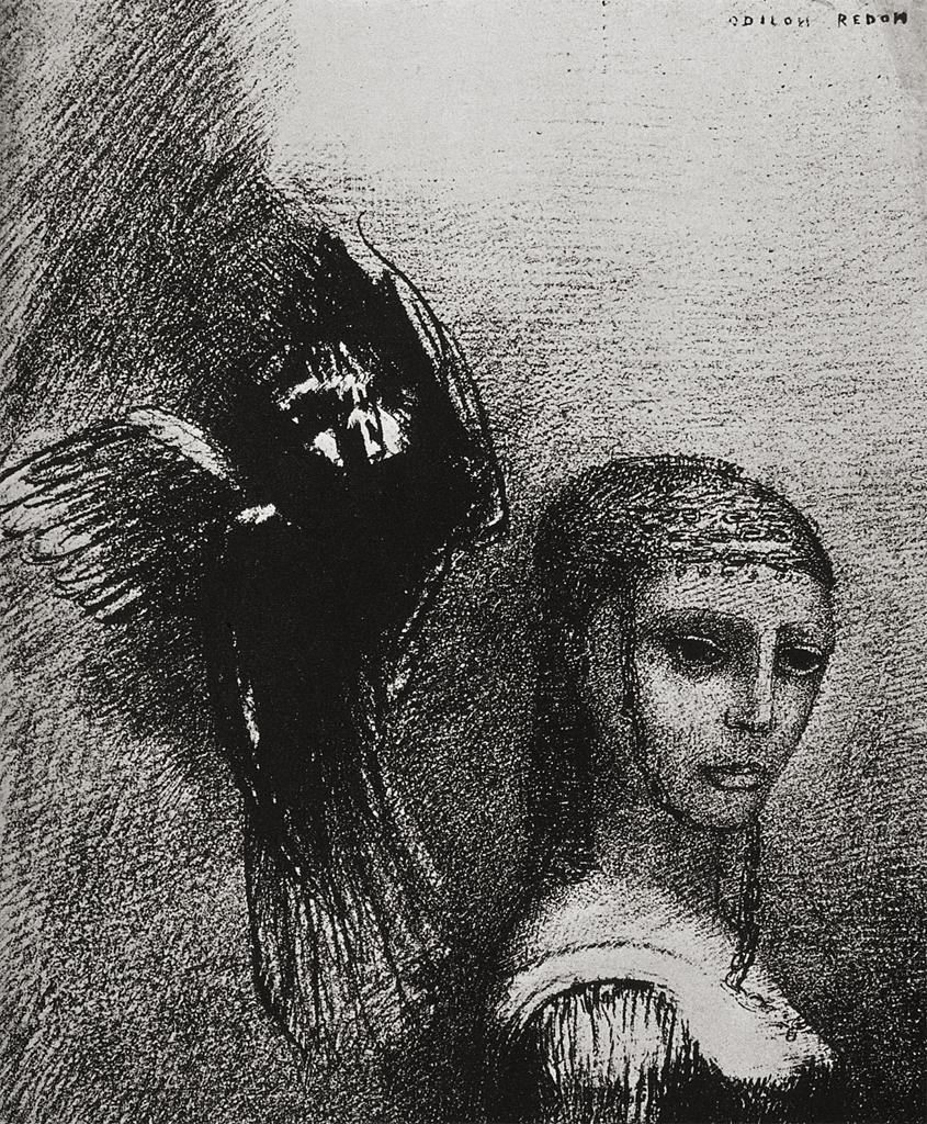 ...And a huge bird, descending from the sky, hurled itself against her crown of hair...