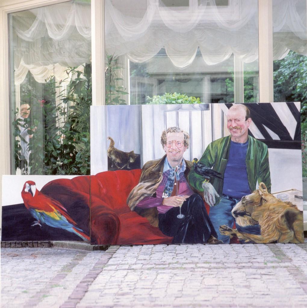 Walter en Eddy met dieren