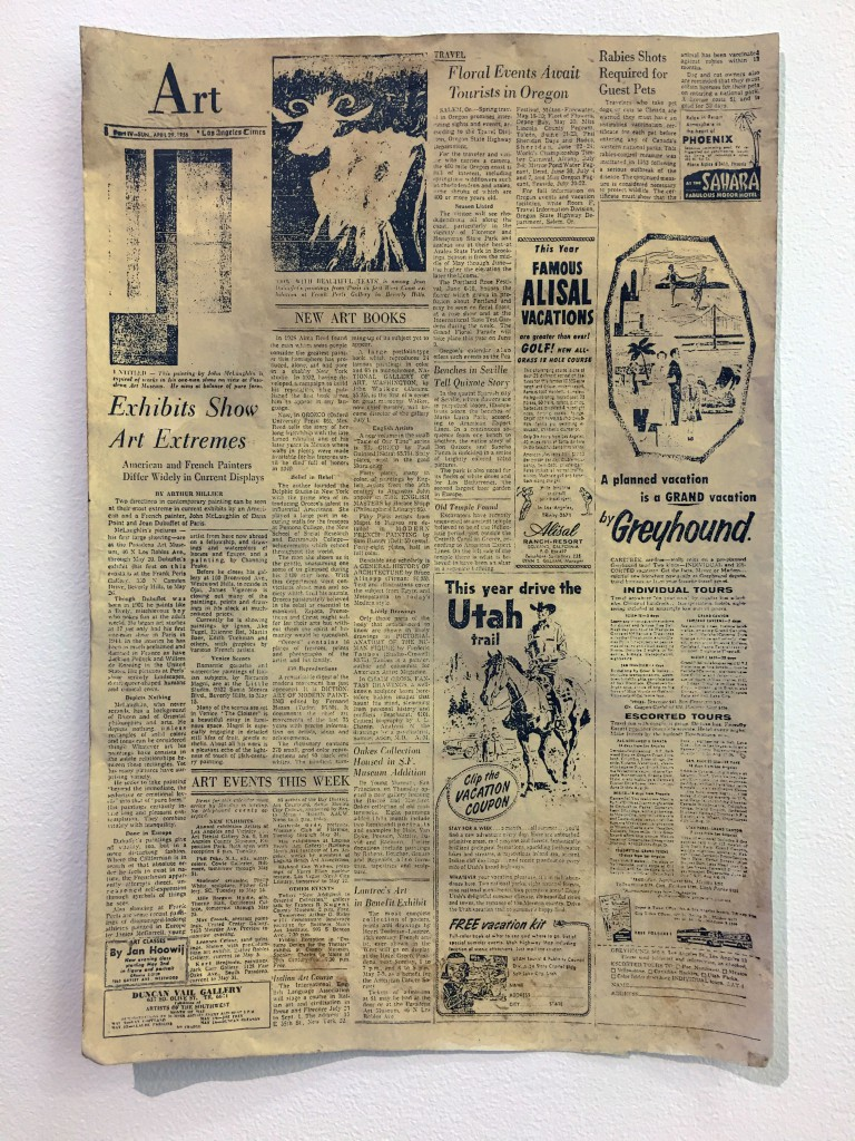 FIONA CONNOR Ma #8 (Newspaper article featuring John McLaughlin from the Los Angeles Times) 1956-87