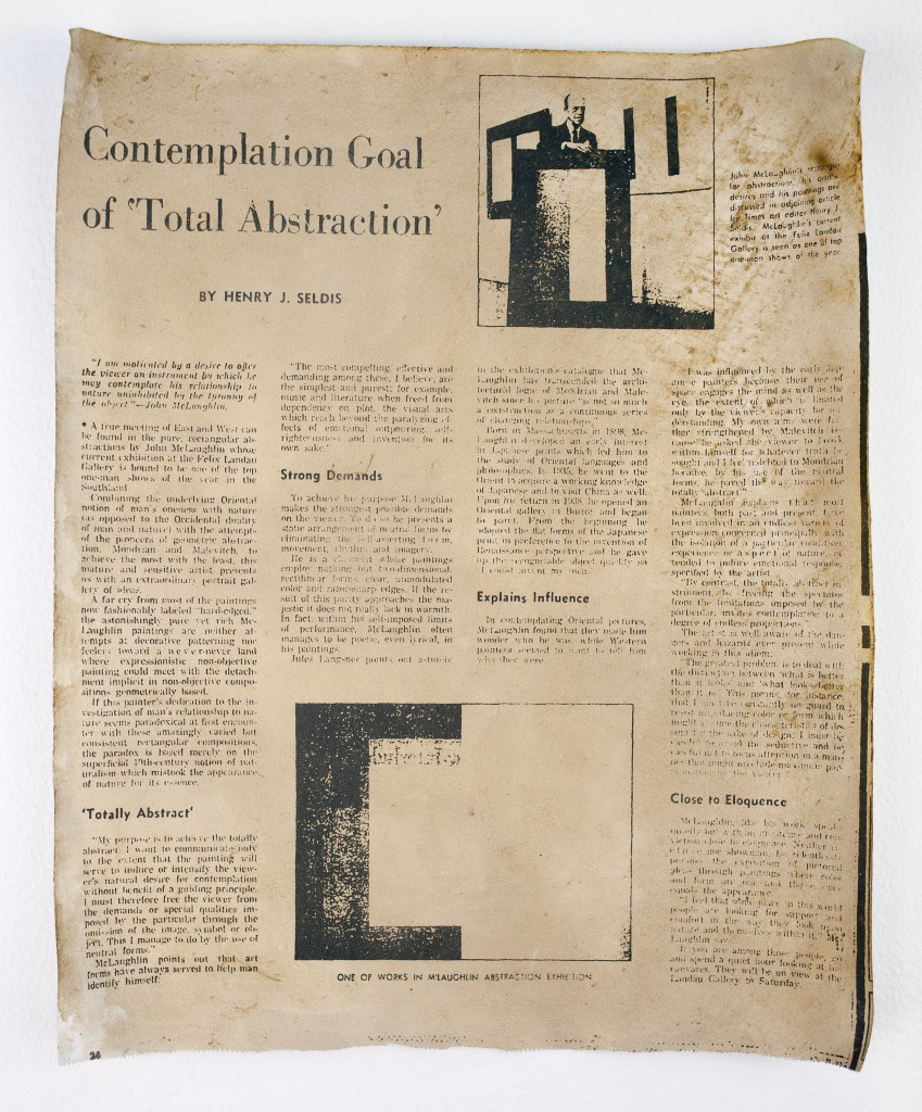 FIONA CONNOR Ma #6 (Newspaper article featuring John McLaughlin from the Los Angeles Times) 1956-87
