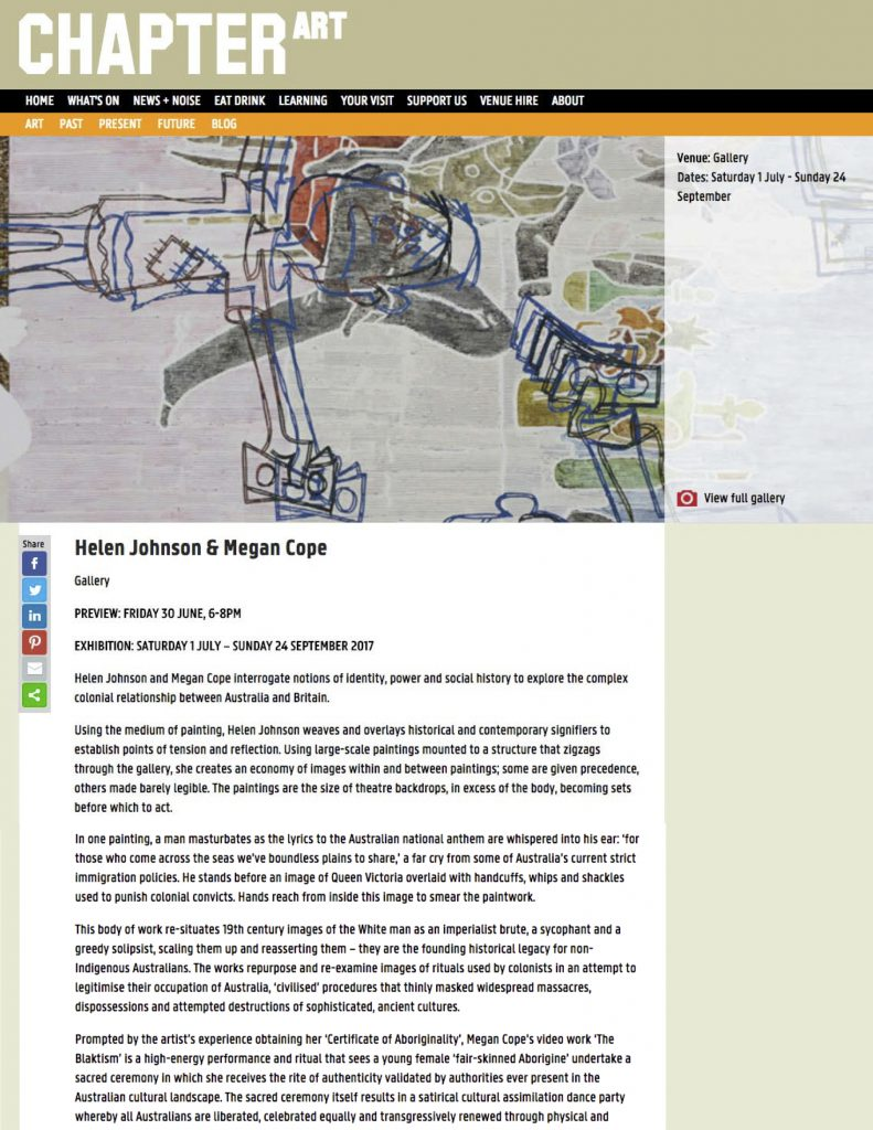 Helen Johnson & Megan Cope at Chapter, Cardiff | Chateau Shatto